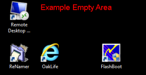 Desktop - Empty Area