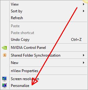 Desktop - Right-Click