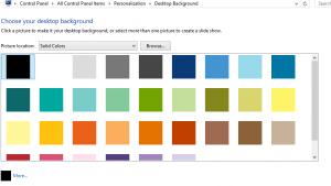 Desktop - background colour palette