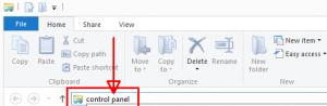 File Explorer Address Bar - Control Panel