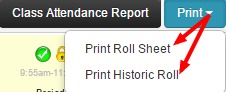 Sentral Attendance pxp Print Roll